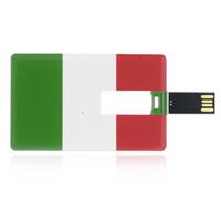 Wholesale Gb Hard Drives - HanDisk Card series IT National Flag Flash Drive 32gb 64gb 128gb 16gb 8gb 4gb 2gb 1gb Portable Hard Drive Usb Pen Drive EU095