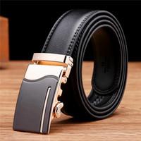 Wholesale Fancy Belts For Men - Men Belts Genuine Leather Luxury Strap Male Belt for Man Buckle Fancy Vintage Jeans Cintos Masculinos Ceinture Homme