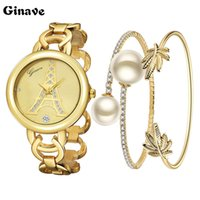 Wholesale ladies stylish watches - 2017 New Ladies Fashion Watches 18K Gold Bracelet Set Watch Is Very Stylish And Beautiful Show Woman's Charm