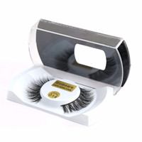 Wholesale long black hair extensions - 100% Real Mink Natural Thick False Fake Eyelashes Eye Lashes Makeup Extension Beauty Tools Wholesale Free Shipping