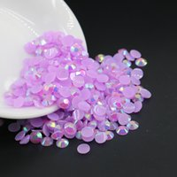 nail art, cabochon, kawaii, decoden, décoration bricolage, jelly Lt.Amethyst AB résine Flat back strass taille 3mm, 4mm, 5mm, 6mm