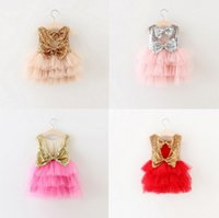 organic birthday cakes - Ins Girls Lace Tutu Dress Kids Clothing Summer Autumn Winter Birthday Princess Party Sequins Cake Dress YAN