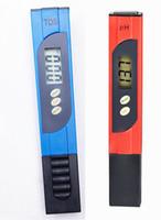 Wholesale Digital Ph Meter Tester Pool - 2pcs lot Digital PH Meter Water Quality Purity Tester Automatic calibration 0.01 and TDS Aquarium Pool tester