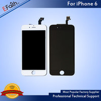 Wholesale White Iphone Lcd Screen - For iPhone 6 Grade A +++ White LCD Display With Touch Screen Digitizer Assembly & Free DHL Shipping