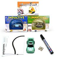 Wholesale Mini Trucks Toys - Creative Gift for Child MINI Magic Pen Inductive Fangle Vechicle Children's CAR Truck Tank Toy Car Random Color Delivery