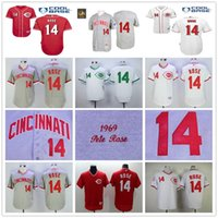 black rose store - Throwback Cincinnati Reds Pete Rose Vintage Cooperstown Baseball Jerseys White Red Gray Cheap Outlets Store