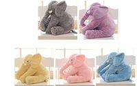 maiores brinquedos venda por atacado-Maior 60 cm Infantil Apaziguar Macia Elefante Playmate Calma Boneca Brinquedos Do Bebê Elefante Travesseiro Plush Toys Stuffed Boneca Presente Da Menina Amigo primeiro