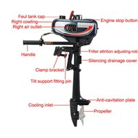Wholesale Cool Engine - Updated 2HP Outboard Motor 2 Stroke Boat Engine w  Water Cooled