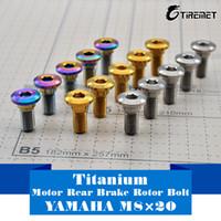 Wholesale Rotor Rear Brake Disc Yamaha - 6pcs  lot Titanium Motor Rear Brake Rotor Bolt Screw Rainbow M8 x 20mm for YAMAHA