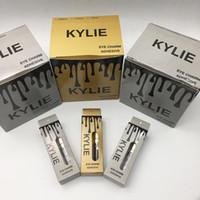 Wholesale Lash Adhesive Glue - 2017 New arrival Famous Brand Kylie Eyelash Adhesives Eye Lash Glue brush-on Adhesives vitamins white clear black New packaging makeup tool