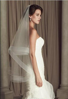 Wholesale Paloma Wedding Veils - Cheap Wedding Veils Paloma Blanca Ivory White Bridal Veils 2 Layers Fingertip Length Tulle Bridal Accessories Under 10