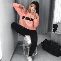 Frauen Mädchen Hoodie Winter Kaufen -Liebe Rosa Midfire Fleece Kurz Hoodie VS Rosa Brief Frauen Mädchen Pullover Sport Gym Langarm Sping Wintermantel T-Shirt Sweatshirts am besten