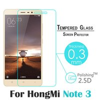 "Wholesale Xiaomi Hongmi Cover - Wholesale- 0.3mm 9H 2.5D Explosion-Proof Komytoo Tempered Glass For Xiaomi HongMi Note 3 5.5"" Film Screen Protector Cover Guard Hot Sale"