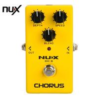 simulação de guitarra venda por atacado-NUX CH-3 Protable Guitar Simulação Efeito de Chorus Efeito de Guitarra Pedal Guitarra Grande Impulsionador Amarelo