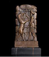 ingrosso pareti di bronzo-Art Crafts Copper ATLIE BRONZI Rilievo astratto da scrivania Decorazione Figurina Decorazioni di Natale Targa decorativa in bronzo