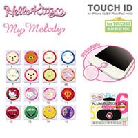 Wholesale Home Button Sticker Iphone Cute - Cute Cartoon Touch ID Home button Sticker for IPhone 7 5s 6 6s plus Se Support Fingerprint Unlock