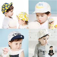 Wholesale Toddlers Girls Baseball Hat - Baby Beanie Caps Toddler Infant Skull Hats Kids Boys Girls Cotton Flat Cap Spring Travel Lemon Sun Hat Children Baseball Snapback Hat 399