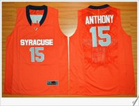 Wholesale College Sport Teams - Syracuse Orange team #15 Carmelo Anthony Elite Mens orange American College Stitched Embroidery basketball uniform shirts Sports Pro Jerseys