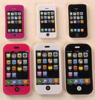 ingrosso telefoni cellulari in vendita-2016 hot sale iphone cellulare Cute Kawaii Matchers Eraser bella colorata gomma per bambini Studenti Creative Item regalo