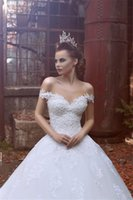 online shopping Ball Gown Wedding Dress - Sexy Off the Shoulder White Wedding Dresses Ball Gown 2017 Robe De Mariee Princesse Sweetheart Lace Appliques Custom Made Wedding Gowns