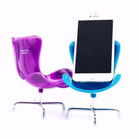 Wholesale Coolest Iphone Gadgets - Wholesale-Universal Cool Gadgets Chair Style Desk Stand Phone Holder for Cell Phones Fashion Design