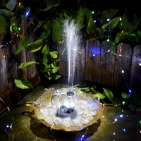 Wholesale Water Pump Fountain Led - 12V 5W Mini Solar Water Pump Power Panel Kit Fountain Pool Garden Pond Submersible Watering Remote Control LED Pump Fountain