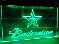 LD274b- Dallas Cowboys Budweiser Bar LED LED Neon Light Sign