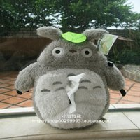 Wholesale Totoro Paper - Wholesale- Totoro Plush tissue pumping car pumping paper tissue box cover
