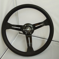 Wholesale Ford Leather - HOT Car styling car steering wheel 14inch PU leather universal modified steering wheel ND fit for SEAT FIAT MAZADA BENZ FORD VOLVO