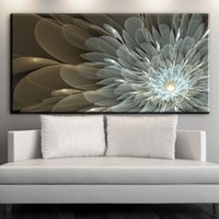 Wholesale Modern Abstract Flower Canvas Paintings - ZZ1895 modern decorative canvas art abstract flower canvas pictures oil art painting for livingroom bedroom decoration unframed