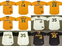 Baseball ott throwback jersey - 2017 Men s Pittsburgh Pirates ED OTT BILL ROBINSON MANNY SANGUILLEN Throwback Baseball Home And Away Jerseys Stitched