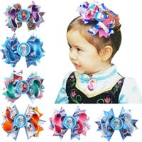 Wholesale Queen Baby - Fashion Baby Girls Barrettes Frozen Queen Elsa Kids Cartoon Cosplay Party Accessories Hairpins Boutique Hair Clips