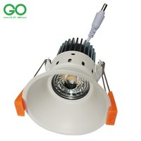 Wholesale Ceiling Downlights Led - LED Downlight 12W COB Down Light Dimmable Non-dimmable LED Ceiling Downlights White fixture 110V 120V 220V 230V 240V 85-265VAC Spot Lights