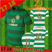 Wholesale Summer Flash - 2018 Scotland league Celtic jerseys DEMBELE GRIFFITHS LUSTIG SINCLAIR BITTON BROWN 17 18 top quality shirts