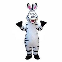 ingrosso costumi adulti madagascar-La dimensione adulta del Dess del partito del fumetto del costume della mascotte della zebra del Madagascar del Madagascar libera il trasporto