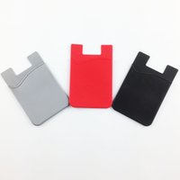 Wholesale Wholesale I Phone Wallets - U&I® High Quality Silicone Phone Card Holder 3m Adhesive Pouch Wallet Business Card Holder 6 Color for smartphone