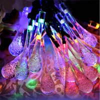 Wholesale Color Changing Led Light String - Newly water drop LED solar string light 20 LEDs color change IP65 waterproof led fariy lights outdoor led Christmas lights for garden party