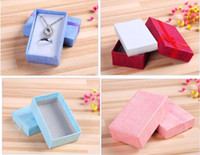 Mix Assorted Colors Jewelry Sets Display Box Collier Boucles d'oreilles Ring Box 5 * 8 Packaging Gift Box Livraison gratuite 100pcs / lot