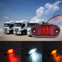 Wholesale Truck Yellow Lights - 24v 12v Led Side Marker Lights for Trailer Trucks Caravan Side Clearance Marker Light Lamp Amber Red White Yellow