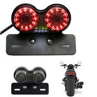 luz de freio universal para motocicleta venda por atacado-Motocicleta LED Parar Luz Da Cauda Traseira Do Freio Turn Signal Luzes Da Lâmpada Universal