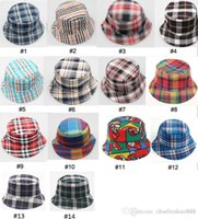 Unisex spring children activities - 14 designs children boy plaid Field activities boy hat boy sun hat canvas materia l