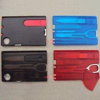 ücretsiz nakliye swiss bıçakları toptan satış-Açık Kamp Güzellik Araçları İsviçre Kart Bıçak ile LED ışık Multifuntion Kart Survival İsviçre Bıçak Ücretsiz Kargo