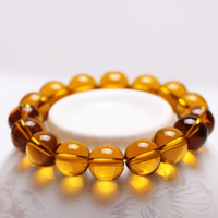 Wholesale Beads Amber - Amber Crystal Bracelet Bead Size 8mm 10mm 12mm diameter lucky bracelets