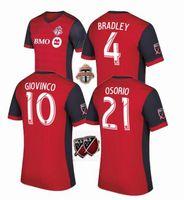 Wholesale Canada Football Jersey - 2017 Canada Toronto FC Soccer jersey 2017 18 BRADLEY GIOVINCO OSORIO ALTIDORE MLS Toronto football shirt Thai quality