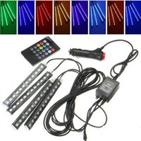 Wholesale Led atmosphere light car interior soles light RGB colorful atmosphere light remote control LED colorful music rhythm lights