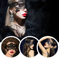 Wholesale Cat Halloween Costumes For Women - New Girls Women Sexy Ball Lace Mask Catwoman Masquerade Dancing Party Eye Mask Cat Halloween Fancy Dress Costume
