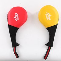 Wholesale Wholesale Karate - Adult Durable Taekwondo Karate Kickboxing Kicking Pad Leather Practice Kick Target Taekwondo Training Leather Foot Target