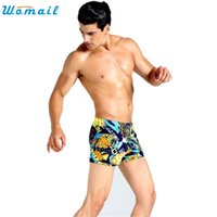 Wholesale Dropship Tie - Wholesale- Womail Womail Fish SunDay Mens Swimming Trunks Shorts Wear Front Tie Printed Pants Swimsuit Dropship Feb24