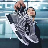 Quente! NMD City Sock CS 1 Men Women Sapatos de corrida Moda City Sock Cs1 Primeknit Cinzento Preto Black Vingate White Sport Comfortable Sneakers