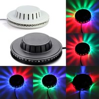 Wholesale Rgb Led Ufo - UFO Sunflower Voice-activated Rotating 48 LED RGB Stage Light Sound Active Effect Stage Lighting For Disco DJ Bar Party
